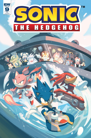 Sonic the Hedgehog #9 (10 Copy Foudraine Cover)