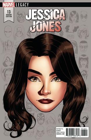 Jessica Jones #13 (McKone Legacy Headshot Cover)