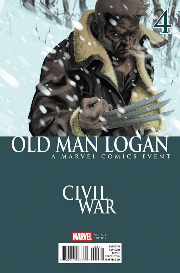 Old Man Logan #4 (Andrasofszky Civil War Cover)