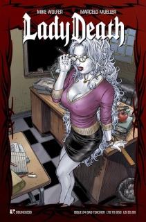 Lady Death #24 (Bad Teacher Cover)