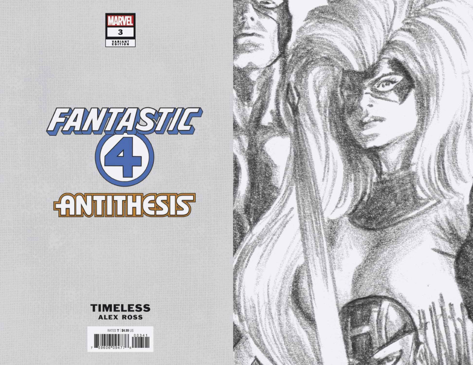 Fantastic Four: Antithesis #3 (Timeless Virgin Sketch Cover)