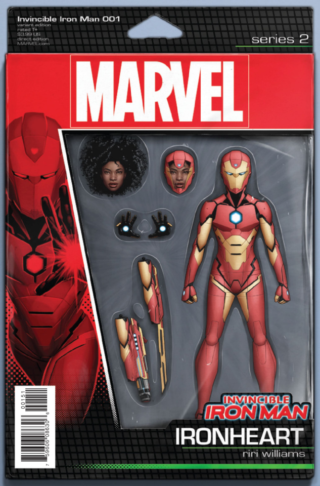 Invincible Iron Man #1 (Christopher Action Figure Cover)