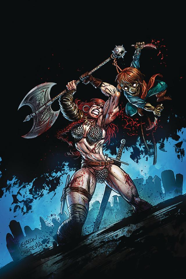 Killing Red Sonja #1 (Gideon Virgin Gedeon Zombie Cover)