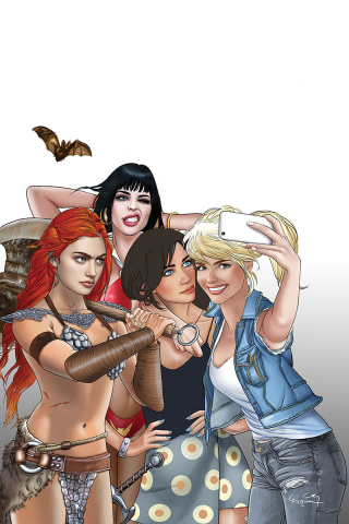 Red Sonja and Vampirella Meet Betty and Veronica #1 (Selfie Virgin Cover)
