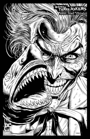 Batman: Three Jokers #1 (1:25 Joker Shark B&W 2nd Printing)