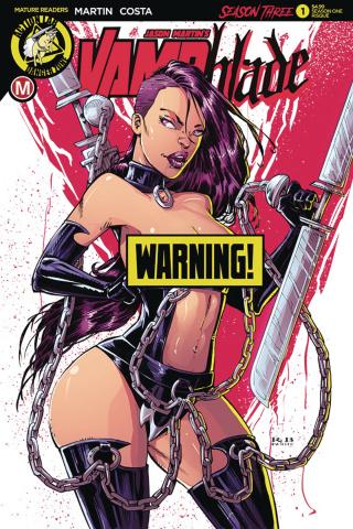Vampblade, Season Three #1 (Season 1 Risque Cover)