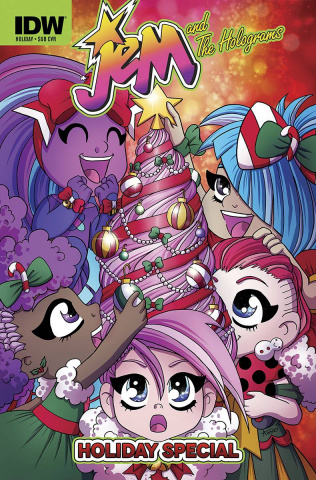 Jem and The Holograms Holiday Special (Subscription Cover)