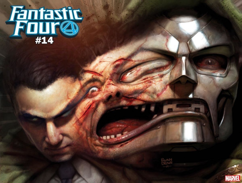 Fantastic Four #14 (Brown Immortal Doom Cover)