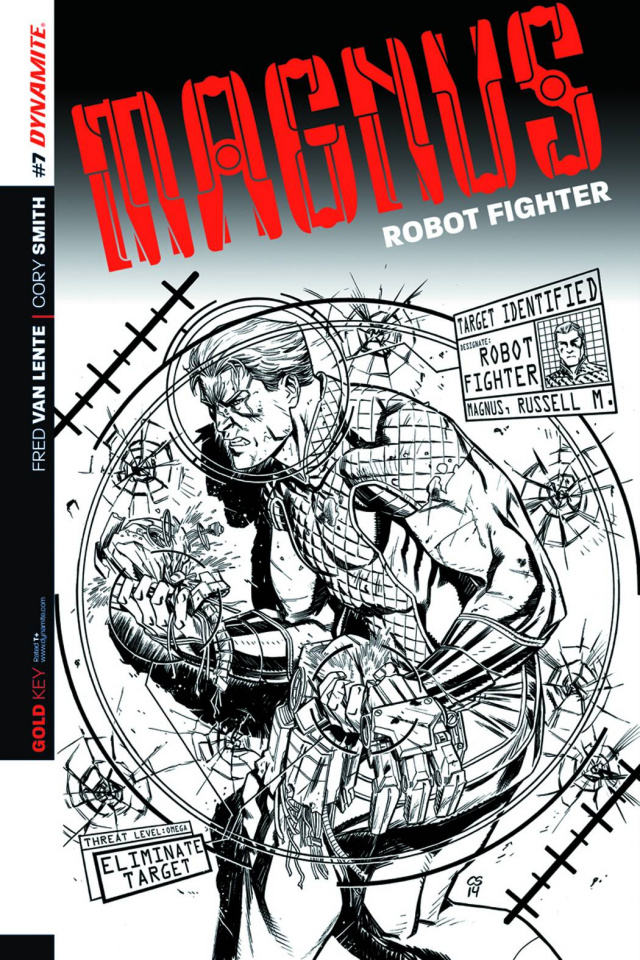 Magnus, Robot Fighter #7 (25 Copy Smith B&W Cover)