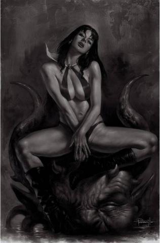 Vampirella #20 (50 Copy Parrillo Virgin B&W Cover)