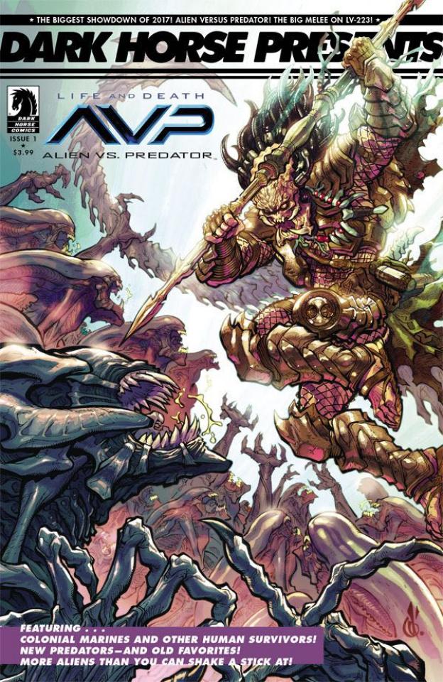 Aliens vs. Predator: Life and Death #1 (30th Anniversary Cover)