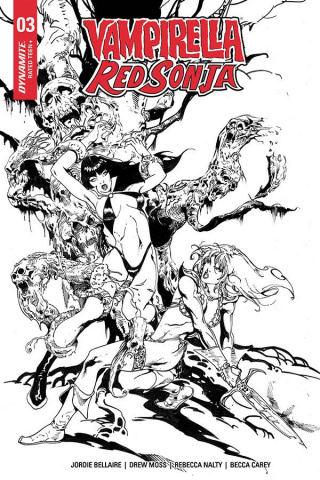 Vampirella / Red Sonja #3 (7 Copy Castro B&W Cover)