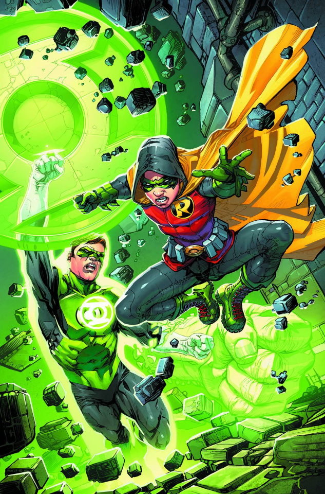 Robin: Son of Batman #4 (Green Lantern 75th Anniversary Cover)