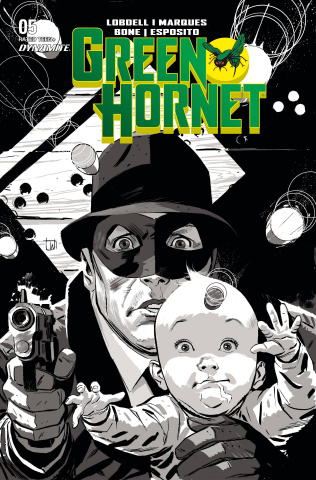 Green Hornet #5 (20 Copy Weeks B&W Cover)