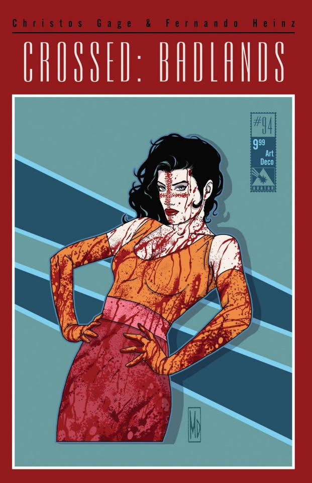 Crossed: Badlands #94 (Art Deco Cover)