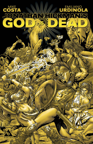 God Is Dead #46 (Gilded Retailer Order Incentive Cover)