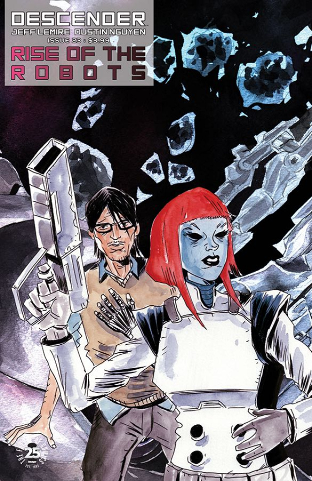 Descender #23 (Interlocking Lemire & Nguyen Cover)