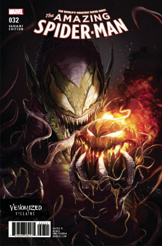 The Amazing Spider-Man #32 (Venomized Green Goblin Cover)