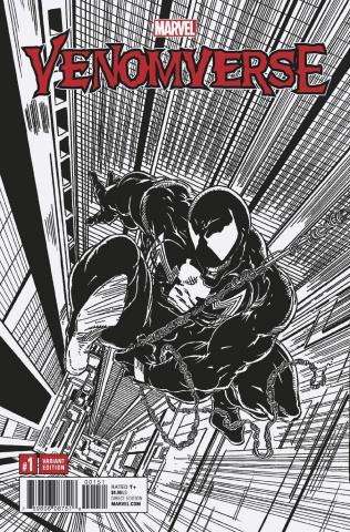 Venomverse #1 (McFarlane Remastered B/W Cover)