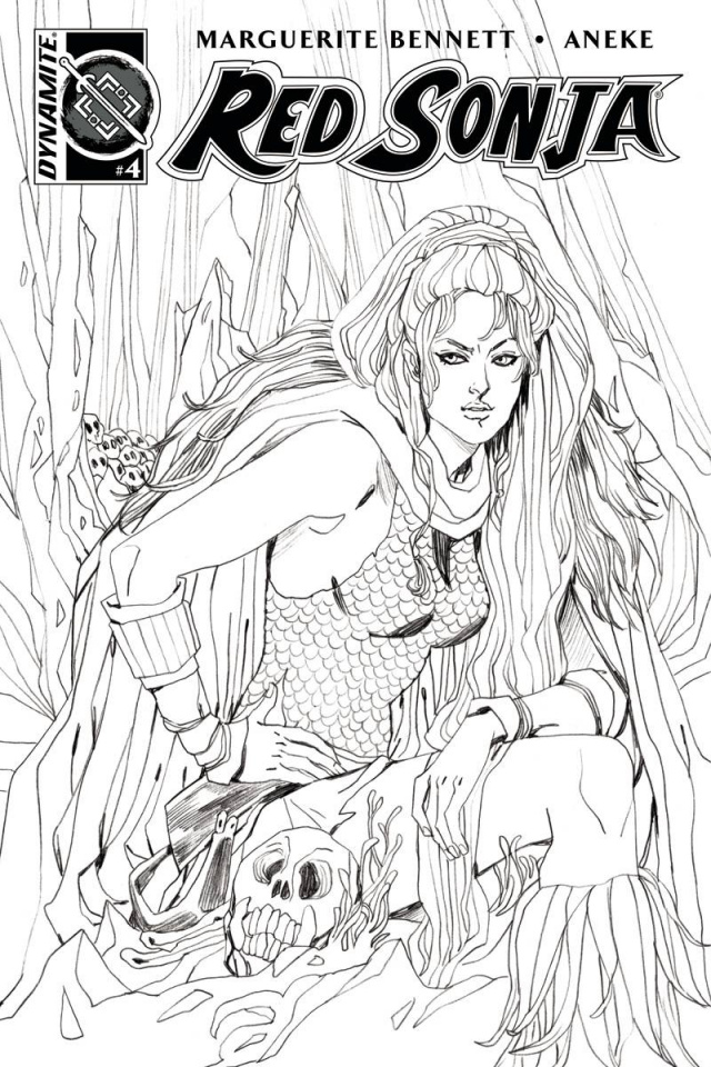 Red Sonja #4 (10 Copy Sauvage B&W Cover)