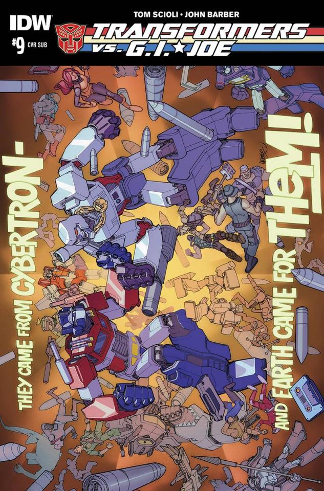 Transformers vs. G.I. Joe #9 (Subscription Cover)