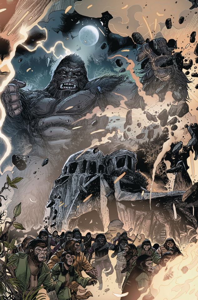 Kong on The Planet of the Apes #5 (Connecting Magno Cover)
