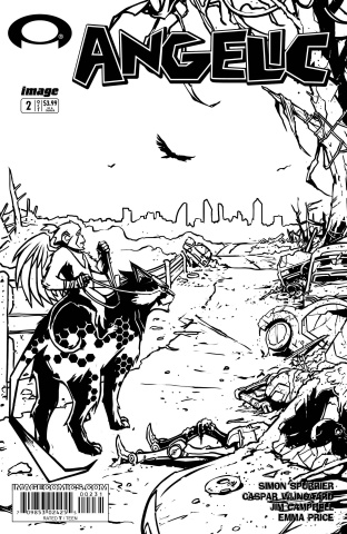 Angelic #2 (B&W Walking Dead #2 Tribute Cover)