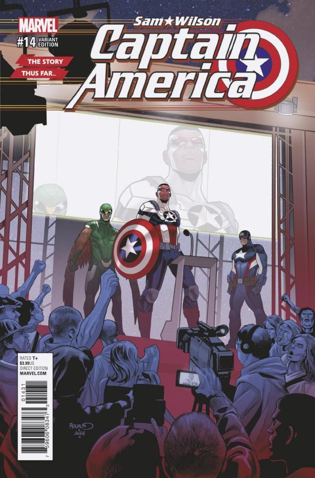 Captain America: Sam Wilson #14 (Story Thus Far Cover)