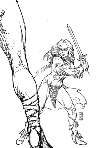 Red Sonja: The Superpowers #3 (40 Copy Linsner B&W Virgin Cover)