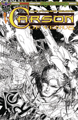 Carson of Venus: The Flames Beyond #1 (B&W Cover)
