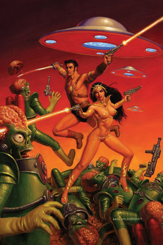 Warlord of Mars Attacks #2 (40 Copy Hildebrandt Virgin Cover)