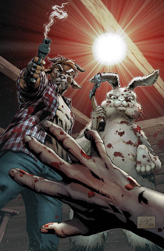 Man Goat & The Bunny Man #1 (Salazar Cover)