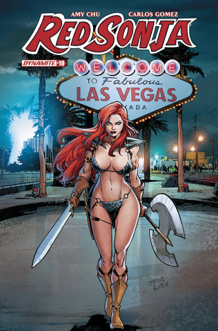 Red Sonja #10 (Gomez Subscription Cover)