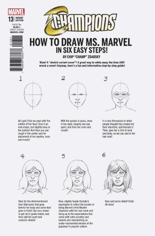 Champions #13 (Zdarsky How To Draw Cover)
