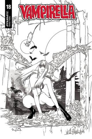 Vampirella #18 (20 Copy Gunduz B&W Cover)