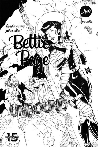 Bettie Page: Unbound #9 (11 Copy Gaudio B&W Virgin Cover)