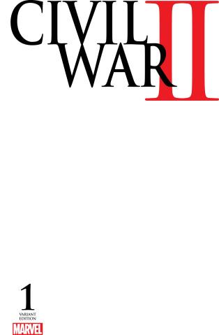 Civil War II #1 (Blank Cover)