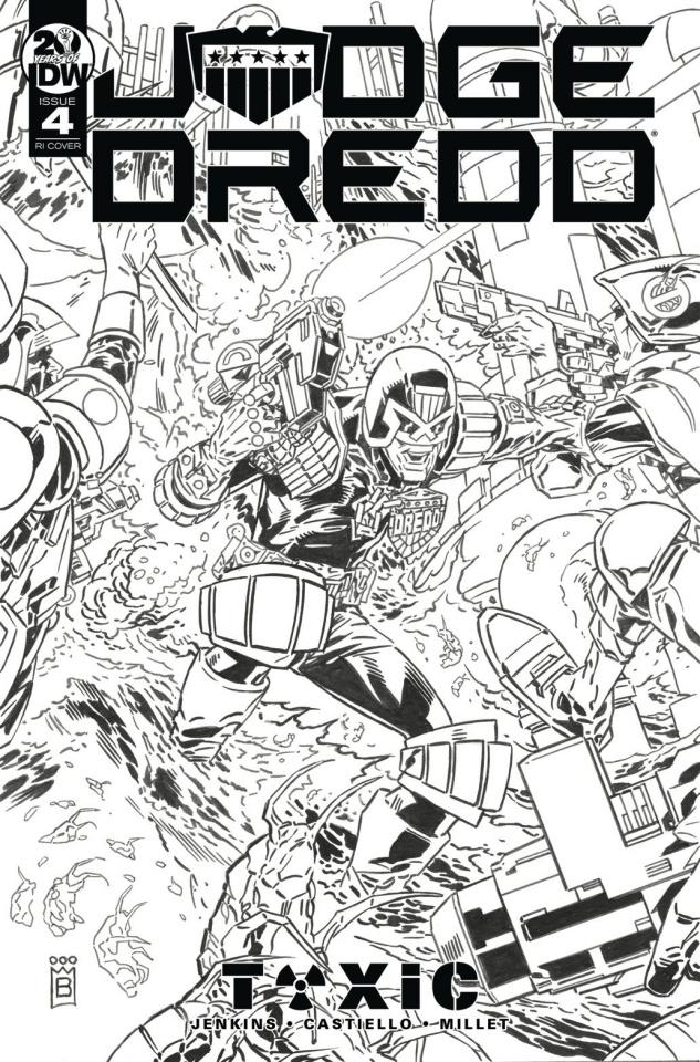 Judge Dredd: Toxic #4 (10 Copy Buckingham Cover)