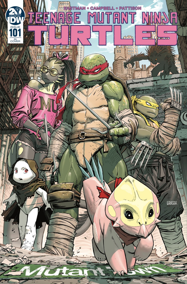 Teenage Mutant Ninja Turtles #101 (10 Copy Weaver Cover)