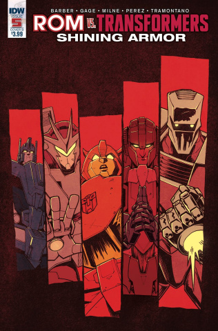 ROM vs. The Transformers: Shining Armor #5 (Roche Cover)