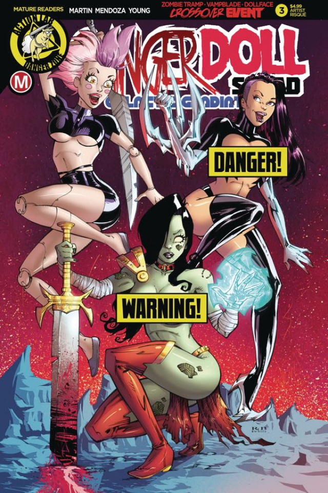 Danger Doll Squad: Galactic Gladiators #3 (White Risque Cover)