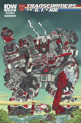 Transformers vs. G.I. Joe #10 (Subscription Cover)