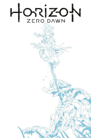 Horizon: Zero Dawn #1 (Blue Line Sketch Cover)