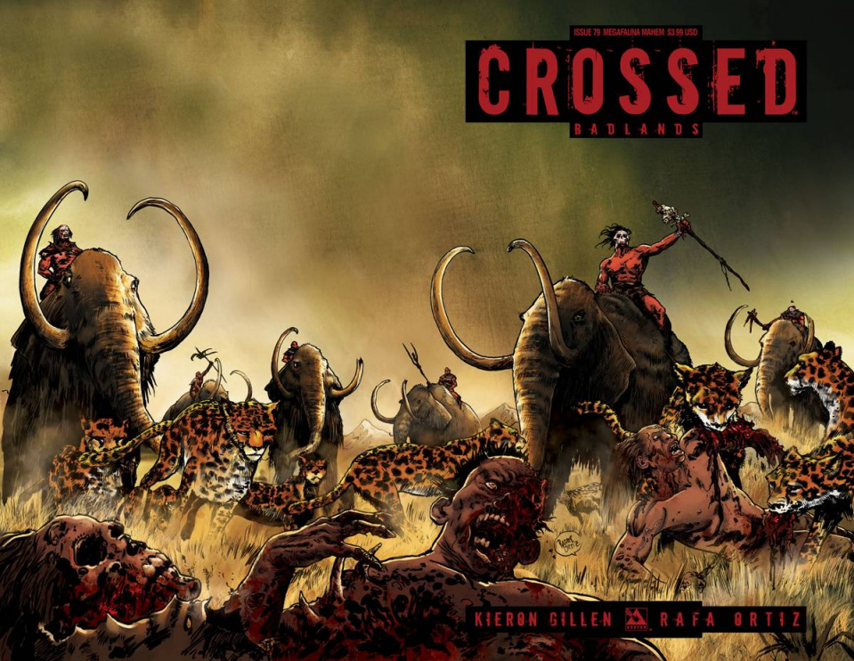 Crossed: Badlands #79 (Megafauna Mayhem Cover)