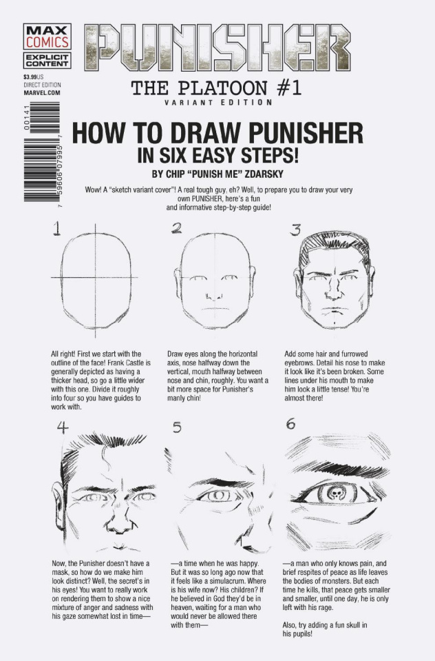 Punisher: The Platoon #1 (Zdarsky How To Draw Cover)