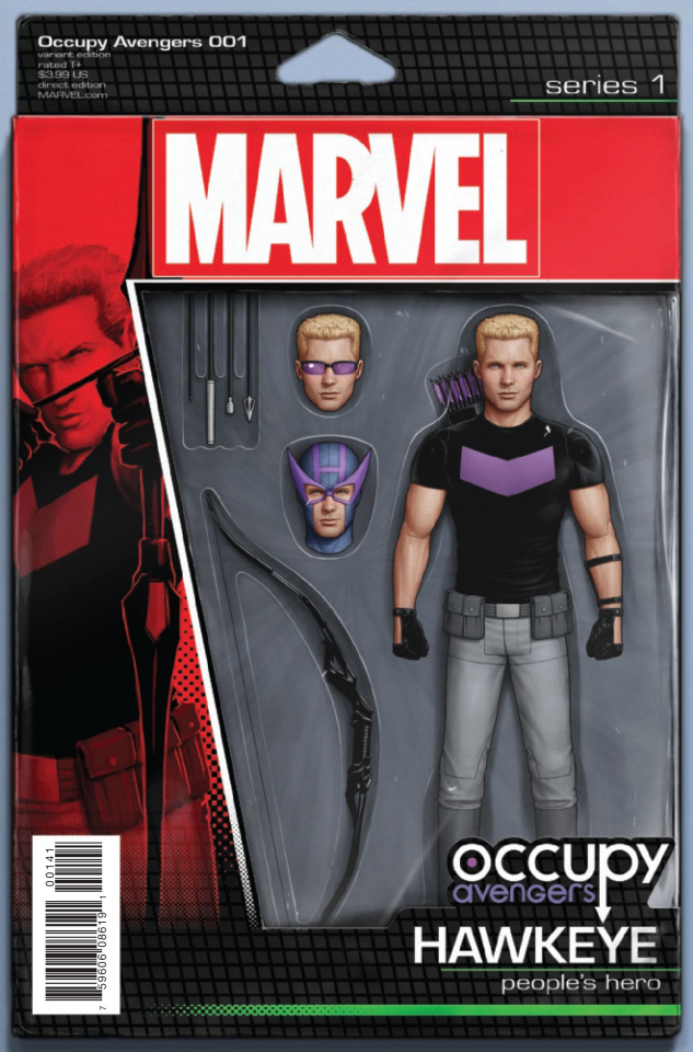 Occupy Avengers #1 (Christopher Action Figure Cover)