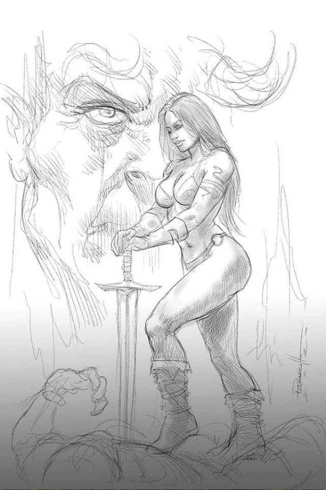 Red Sonja: Age of Chaos #6 (15 Copy Parrillo B&W Virgin Cover)