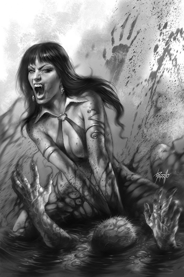 Vengeance of Vampirella #3 (25 Copy Parrillo B&W Virgin Cover)