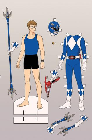 Go, Go, Power Rangers! #4 (Unlockable Mok Cover)