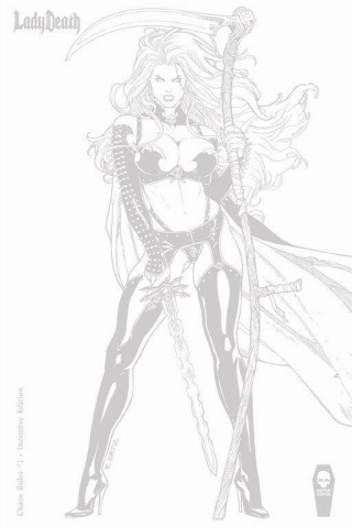 Lady Death: Chaos Rules #1 (Ortiz 10 Copy Cover)